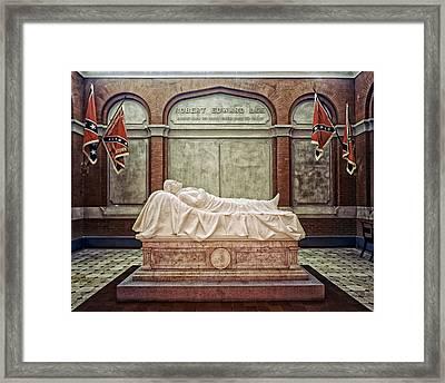 The Recumbent Robert E. Lee Framed Print