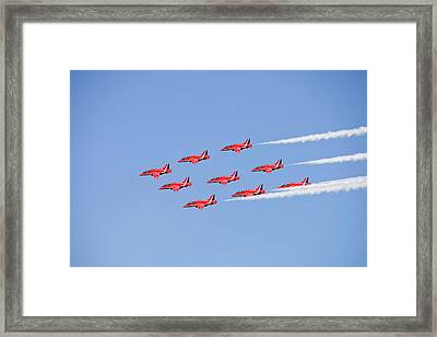 The Red Arrows Framed Print by Ashley Cooper