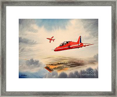 The Red Arrows - Bae Hawk T1a Framed Print by Bill Holkham