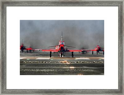 The Red Arrows Framed Print by James Lucas