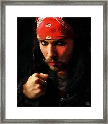 The Red Bandana Framed Print by Gun Legler