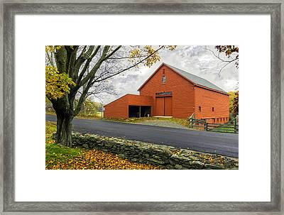 The Red Barn At The John Greenleaf Whittier Birthplace Framed Print