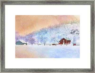 The Red Barn Framed Print by Betty LaRue