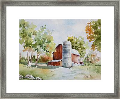 The Red Barn Framed Print by Bobbi Price