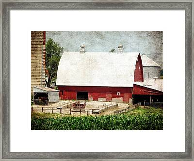 The Red Barn Framed Print by Cassie Peters