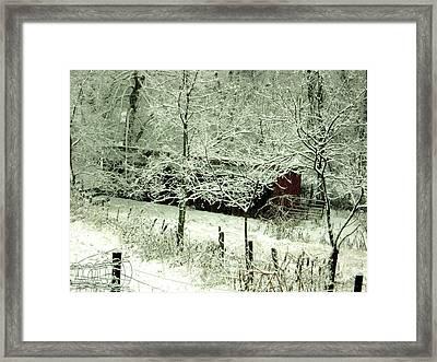 The Red Barn Framed Print by Mimi Saint DAgneaux