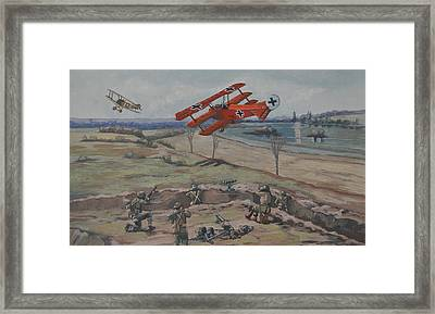 The Red Baron's Last Combat Framed Print by Murray McLeod