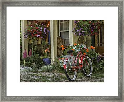 The Red Bike Framed Print