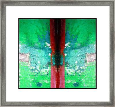 The Red Blade Framed Print by Marcia Lee Jones