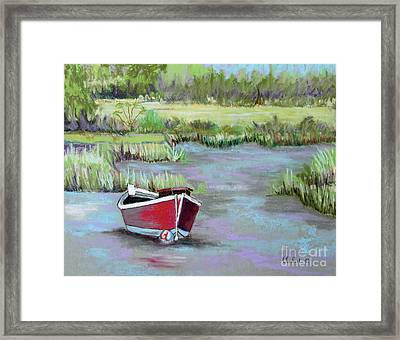 The Red Boat Chronicle  Framed Print