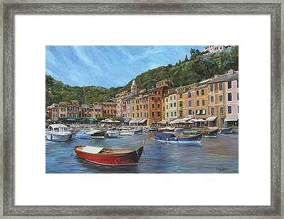 The Red Boat Framed Print by Emily Olson