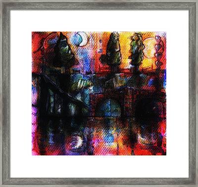 The Red Bridge Framed Print