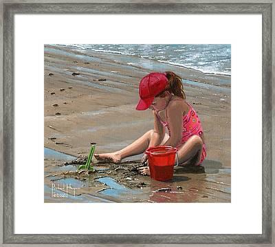 The Red Bucket Framed Print by Richard Harpum