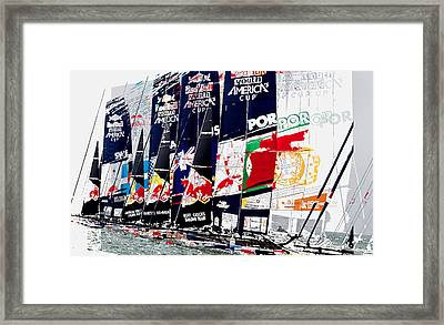The Red Bull Youth Americas Cup The Start Framed Print by John Mangino