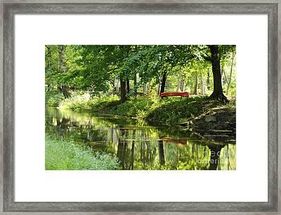 The Red Canoe Framed Print