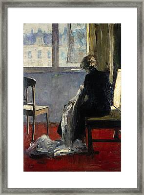 The Red Carpet, 1889 Framed Print by Lesser Ury
