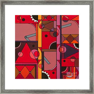The Red Clock Framed Print by Christopher Page