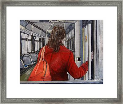The Red Coat Framed Print by Reb Frost