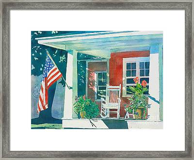 The Red Cottage Framed Print by LeAnne Sowa