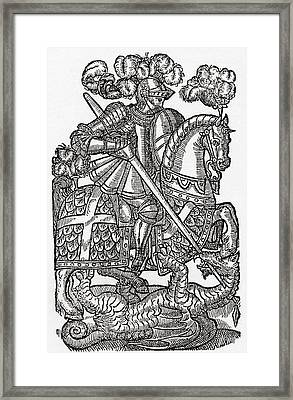 The Red Cross Knight, St. George And Framed Print