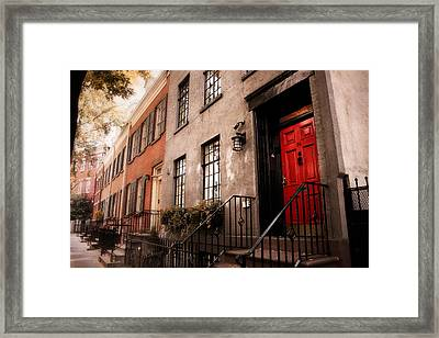The Red Door Framed Print by Jessica Jenney