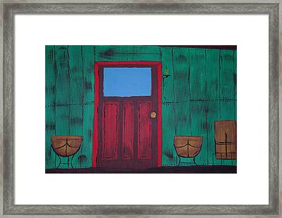 The Red Door Framed Print by Keith Nichols