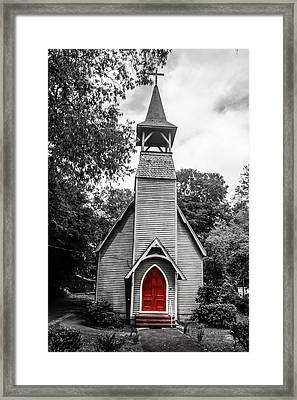 The Red Door Framed Print by Steven  Taylor