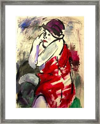 The Red Dress II Framed Print by Elaine Schloss