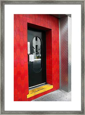 The Red Entrance Framed Print by Dorin Adrian Berbier