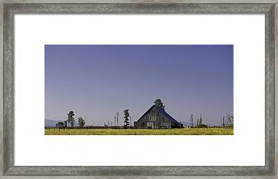 The Red Fence Framed Print