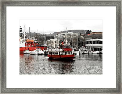 The Red Ferry Framed Print