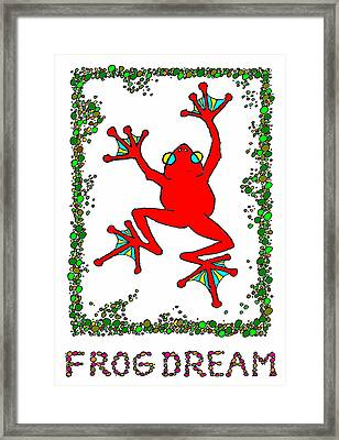 The  Red  Frog   Framed Print by Hartmut Jager
