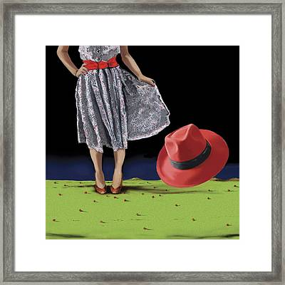 The Red Hat, 2008 Framed Print by Marjorie Weiss