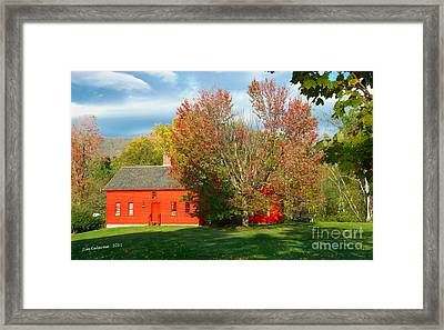 The Red Homestead Framed Print by Jim  Calarese