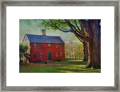 Framed Print featuring the photograph The Red House by Barbara Manis