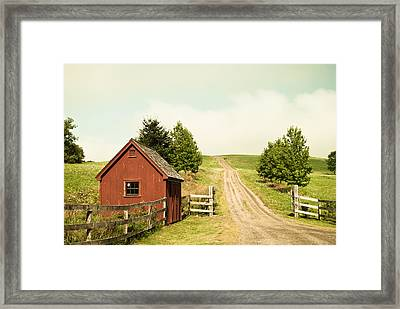 The Red House Framed Print by Lee Costa