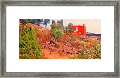 The Red House Framed Print by Spyder Webb