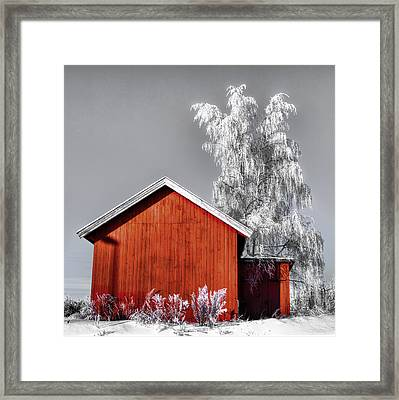 The Red House Framed Print by Thomas Berger