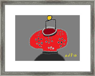 The Red Lantern Framed Print