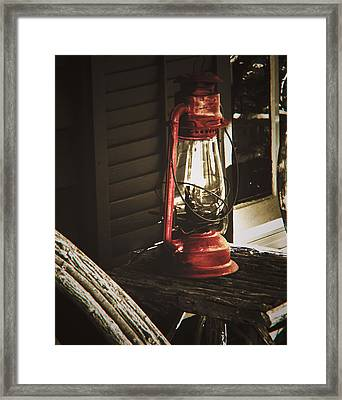 Framed Print featuring the photograph The Red Lantern by Debra Crank