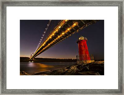 The Red Little Lighthouse Framed Print by Eduard Moldoveanu