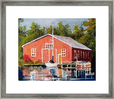 The Red Marina Framed Print