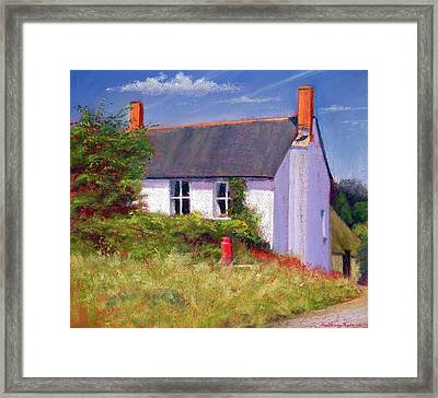 The Red Milk Churn, 2003 Pastel On Paper Framed Print by Anthony Rule