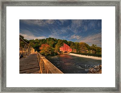 The Red Mill Framed Print by Paul Ward