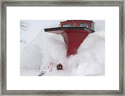 The Red Monster-railway Plow Framed Print by Nick Mares