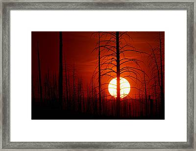 The Red Planet Framed Print by Jim Garrison