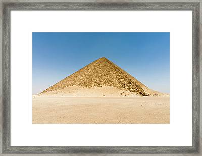 The Red Pyramid (senefru Or Snefru Framed Print