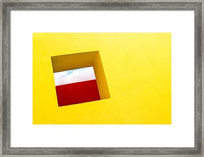 the Red Rectangle Framed Print