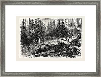 The Red River Expedition Dawsons Road, 1870 Framed Print by Canadian School