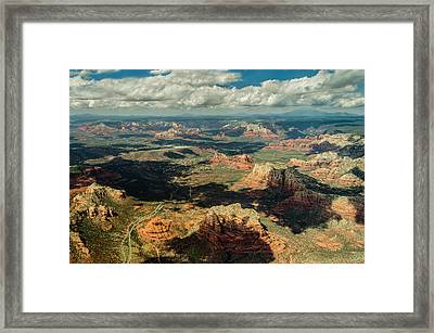 The Red Rocks Of Sedona Framed Print